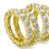 Cubic Zirconia Eternity Band in 14K Gold Over Sterling Silver