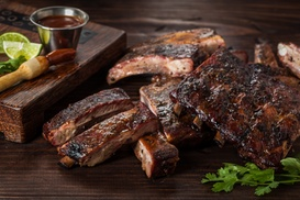 The Green Mesquite BBQ & More: Barbecue and Southern Food at The Green Mesquite BBQ & More Two Options Available.
