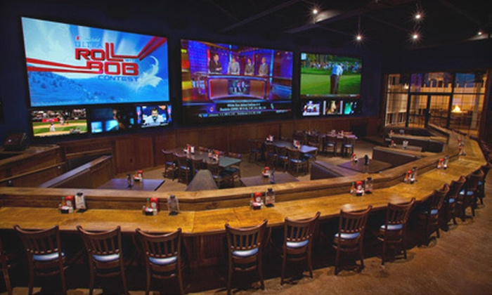 NASCAR Sports Grille - Briarfield: Casual American Fare at NASCAR Sports Grille (Up to 52% Off). Three Options Available.