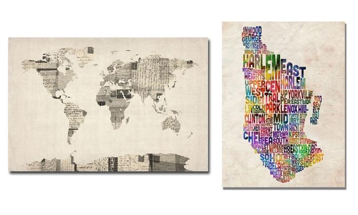 24x18 michael tompsett maps groupon goods 24x18 michael tompsett maps on canvas gumiabroncs Images