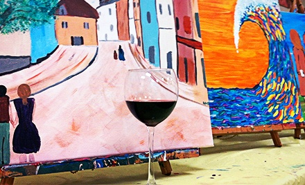 Painting Event and Wine for Two or Four at Paint 'n Pour (Half Off)