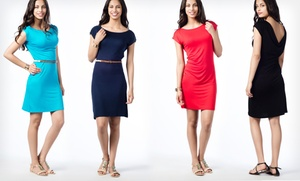 $18.99 For A Scoop-back Dress In Black, Navy, Red, Or Turquoise ($49.50 List Price). Free Shipping And Returns.