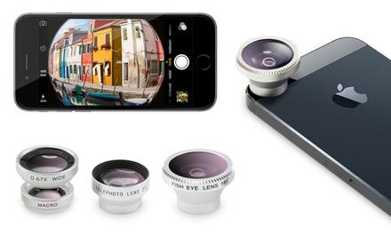 1 o 2 kits de 4 lentes para smartphone y tablet