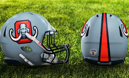 One Ticket to an Omaha Mammoths Football Game at TD Ameritrade Park Omaha on October 8 or 15 (Up to 46% Off)