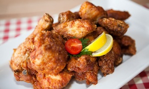 Chickilia West Melbourne: 1kg Chicken Wings + Fries, Salad + Drinks for Two ($19); 2kg for Four ($35) at Chickilia West Melbourne (Up to $97.60)