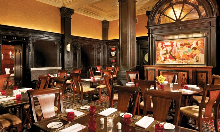 The Round Table at the Algonquin Hotel - New York: Fine Dining at The Round Table at the Algonquin Hotel (50% Off). Two Options Available.