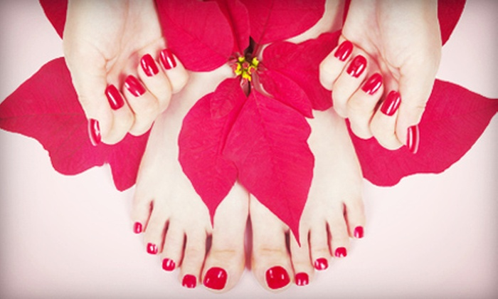 Exotic Nails - Pascoag: One or Two Exotic Ahh Mani-Pedis at Exotic Nails (Up to 62% Off)