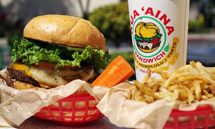 Kua'Aina Sandwich - Kapolei: $7 for $14 Worth of Sandwiches and Burgers at Kua'Aina Sandwich