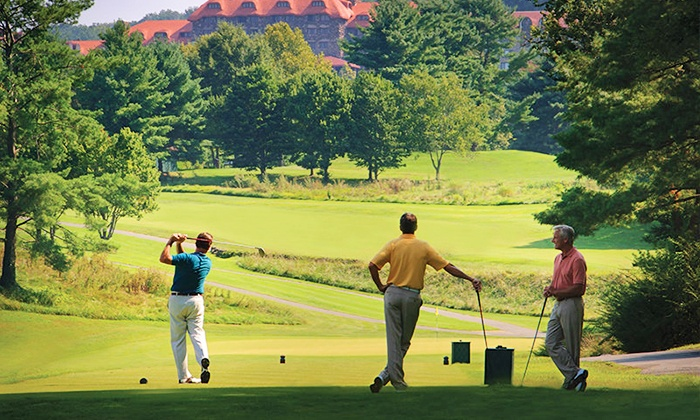The Omni Grove Park Inn - Asheville: Afternoon Golf with Cart at The Omni Grove Park Inn (Up to 44% Off). Two Options Available.