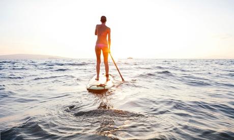 Alquiler de tabla de paddle surf para 1 o 2 personas durante 1 hora desde 9,99 € en Toro Sup Oferta en Groupon