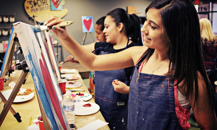 Social Paintbrush - Summerlin: $17 for a Two-Hour Painting Class with Materials for One at Social Paintbrush ($35 Value)