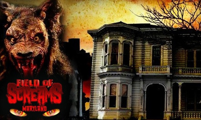 Field of Screams - Olney: $31 for a Haunted-Forest Visit with Entry to Three Attractions and a Line-Jump Pass at Field of Screams ($63 Value)