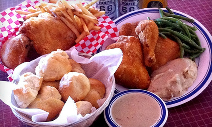 Dell Rhea's Chicken Basket - Willowbrook: $23 for Two Fried-Chicken Dinners with an Appetizer and Dessert at Dell Rhea's Fried Chicken Basket (Up to $50.80 Value)