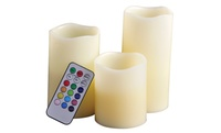 GROUPON: Set of 3 Remote-Controlled LED Flameless Candles Set of 3 Remote-Controlled LED Flameless Candles
