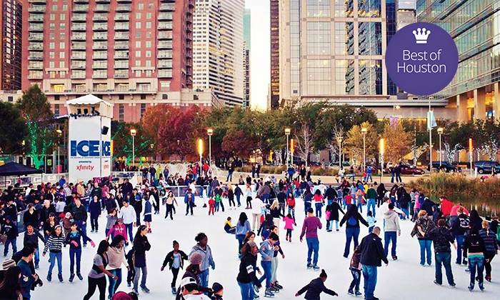 The Ice at Discovery Green - Downtown: 90 Minutes of Public Skating for Two or Four with Skate Rentals at The Ice at Discovery Green (Up to 50% Off)