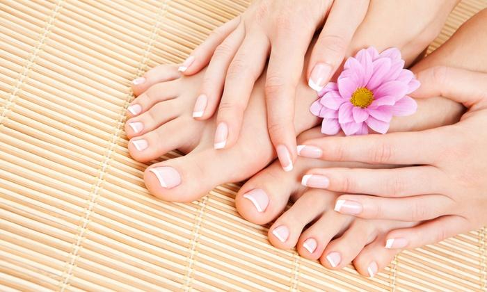 Qpolish Nails & Spa - Western Skies Village: Manicure and Pedicure from Qpolish Nails & Spa (50% Off)