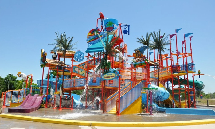 Bahama Beach Waterpark - Oak Cliff: Water-Park Visit for Two or Four with Combo Meals at Bahama Beach Waterpark (Up to 51% Off)