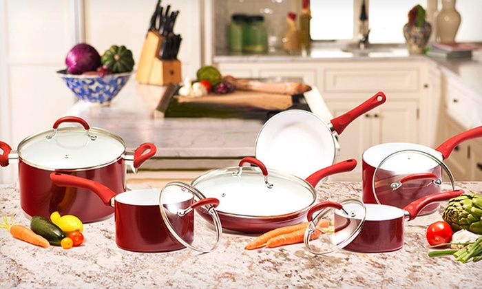 Supreme Ceramic World Class Cookware Set: 4-, 7-, or 11-Piece Supreme Ceramic World Class Cookware Sets (Up to 70% Off). Free Shipping and Free Returns.