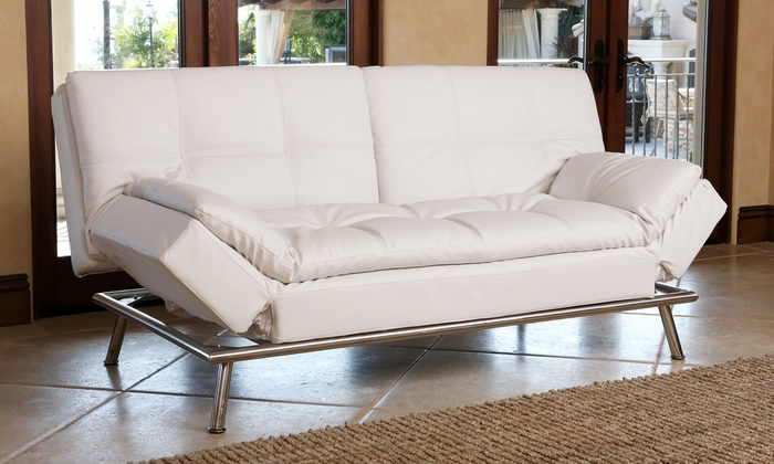 Bonded Leather Euro Lounger | Groupon Goods