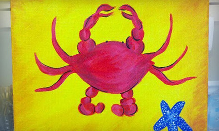 Palmetto Paint & Pour - Northwest Columbia: $17 for a BYOB Painting Class at Palmetto Paint & Pour (Up to $40 Value)