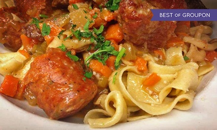$75 for Three-Course Italian Dinner for Two with Wine at Vin Santo Ristorante ($126.50 Value)