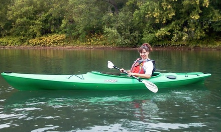 All-Day Kayak, Canoe, Paddleboard, or Tube Trips with Shuttle Service from The River's Edge Canoe and Kayak (50% Off). Four Options Available.