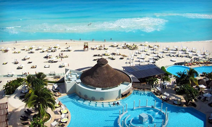 All inclusive canc n trip with airfare in cancun for Round the world trips all inclusive
