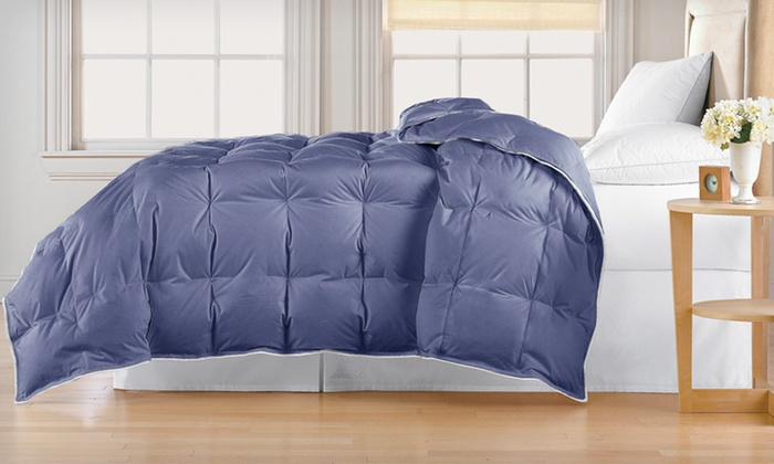 100% Cotton Down Comforter: 240-Thread-Count, 100% Cotton Down Comforter (Up to 76% Off). Multiple Sizes and Colors Available.