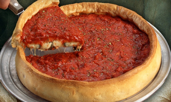 Dish Famous Stuffed Pizza - Northland: Chicago-Style Pizza and Pizzeria Fare for Dinner or Lunch at Dish Famous Stuffed Pizza in Liberty (Half Off)