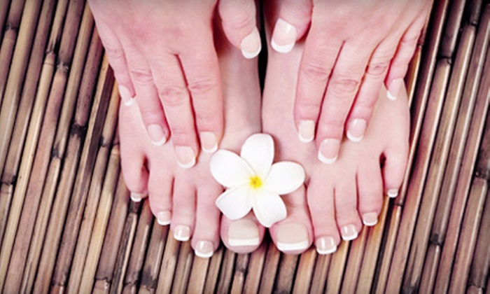 Aliano Hair Salon - Bronx: Mani-Pedi with Optional Gelish Manicure at Aliano Hair Salon (Up to 58% Off)