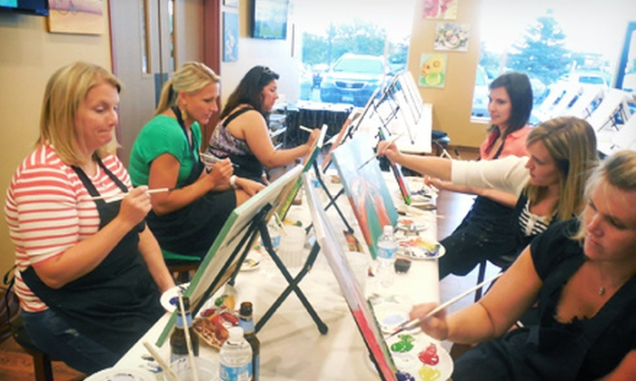 Cheers Pablo - Woodbury: Painting Class with Jumbo Canvas, Popcorn, and Bottled Water for One, Two, or Four at Cheers Pablo (Up to 56% Off)