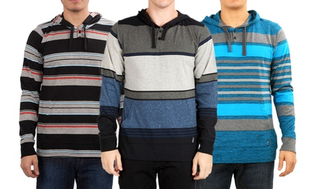 Micros Men's Striped Hoodies. Multiple Styles Available.