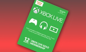 12-month Xbox Live Gold Card And $10 In Groupon Bucks