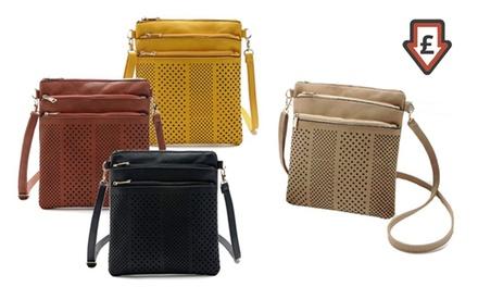 One, Two or Three Women's Three-Zip Cross-Body Handbags