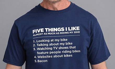 Five Things I Like Bike T-Shirt