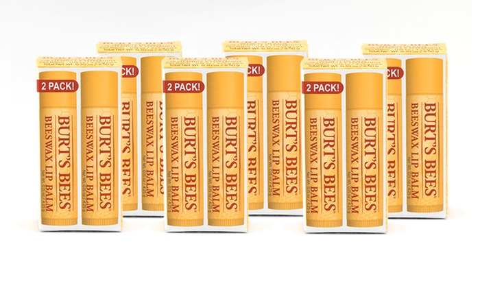 Burt's Bees Beeswax Lip Balm (12-Pack): Burt's Bees Beeswax Lip Balm with Vitamin E and Peppermint; 12-Pack of 0.15oz. Sticks + 5% Back in Groupon Bucks