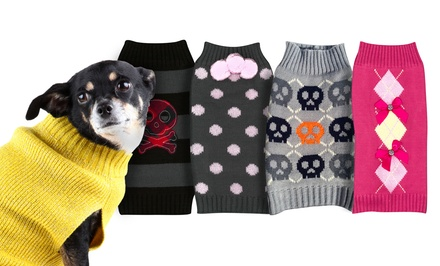 Bows, Stripes & Skull Pet Sweaters