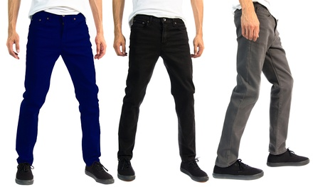 Alta Designer Fashion Men's Slim Fit Skinny Colored Denim Jeans