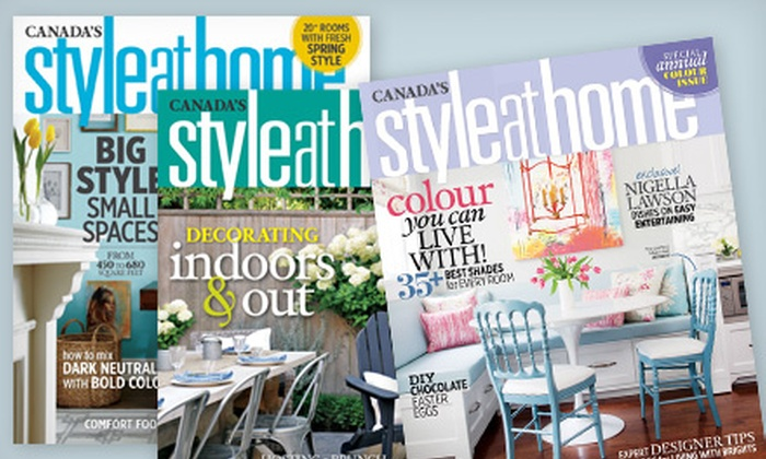 """Style at Home"" Magazine: $9.99 for One-Year Subscription to ""Style at Home"" Magazine ($ 19 Value)"
