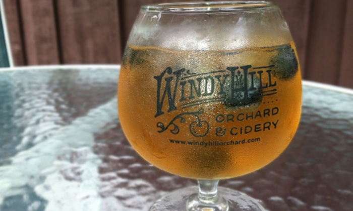 Windy Hill Orchard & Cider Mill - York: Souvenir Glasses and Complimentary Hard-Cider Tasting for Two or Four at Windy Hill Orchard & Cider Mill (Up to 58% Off)