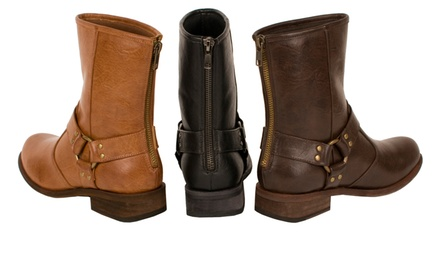 Relent Hanna Short Boot with Harness. Multiple Colors Available. Free Returns.