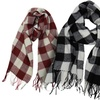Buffalo Check Plaid Extra Large Scarf for Men or Women
