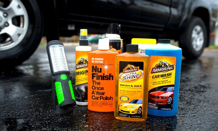 Armor All and Nu Finish Car Care Cleaning Kit with Flashlight: $49.99 for Armor All and Nu Finish Car Care Cleaning Kit ($85.23 List Price). Free Shipping and Returns.