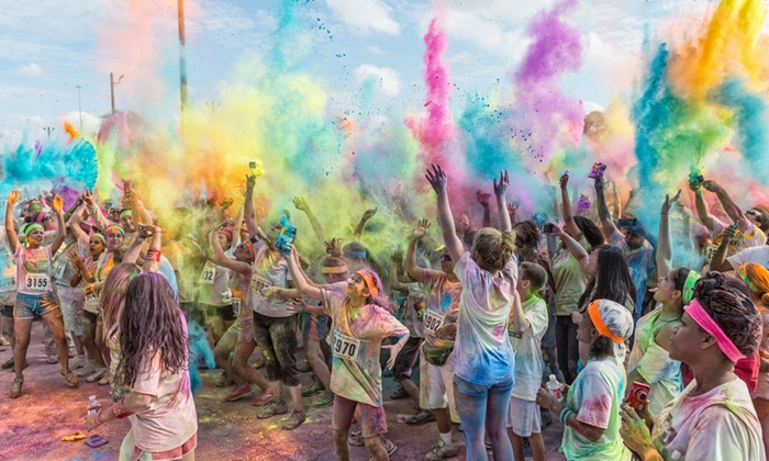 The Colorful 5K - Graffiti Run - Good Year Ball Park: $25 for 5K Registration for One at The Colorful 5K - Graffiti Run on Saturday, October 18 $50 Value)