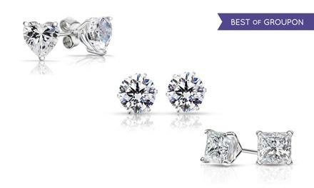 3-Pack of Sterling Silver Swarovski Elements Stud Earrings