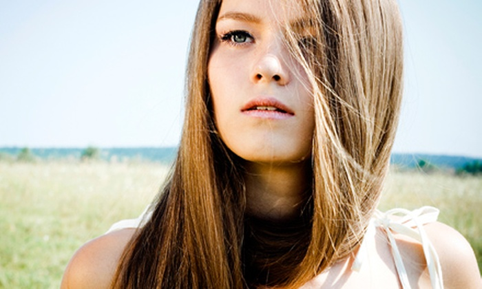 Hair Bar NYC - Multiple Locations: Brazilian Keratin Treatment with Optional Haircut, or $50 for $100 Worth of Salon Services at Hair Bar NYC