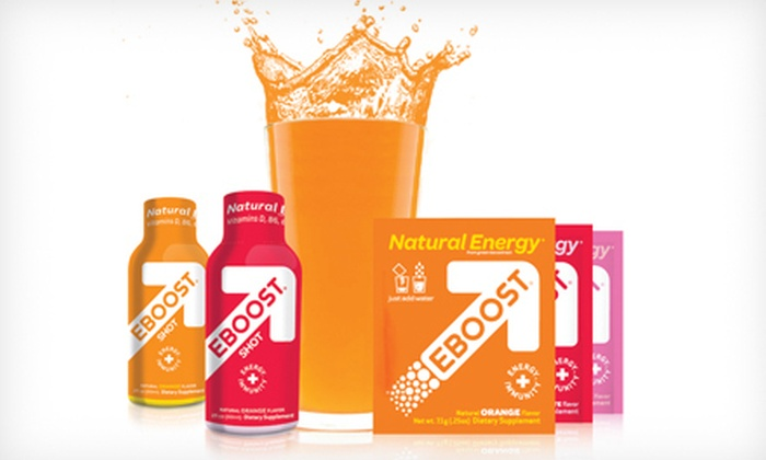 EBOOST: Natural Energy-Booster Tablets, Shots, and Packets from Eboost (Up to 52% Off). Two Options Available.