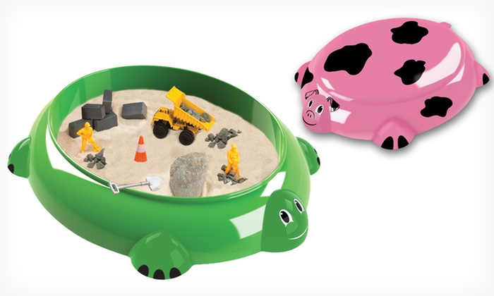 Animal-Shaped Tabletop Sandboxes: Piggy Farm or Sea Turtle Tabletop Sandbox (Up to 54% Off). Free Returns.