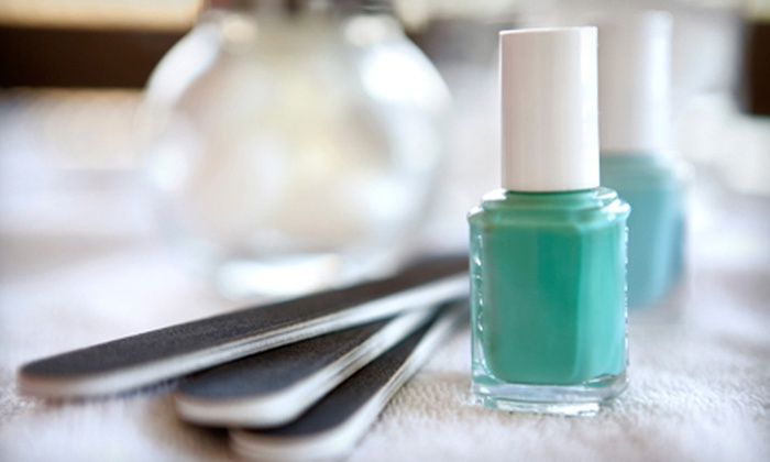 New Image Hair, Skin, Massage and Nails - Grapevine: Pedicure and Shellac Manicure, or Three Shellac Manicures at New Image Hair, Skin, Massage and Nails (Up to 68% Off)