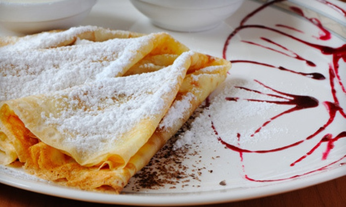 CrepeTown Cafe & Grill - Empire Ranch Village: Crepes for Two or Four at CrepeTown Cafe & Grill (Half Off)